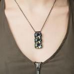 3 Stone Necklace Petrol 02
