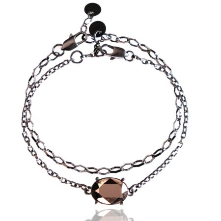 After the Frost Duo Bracelet - Gunmetal