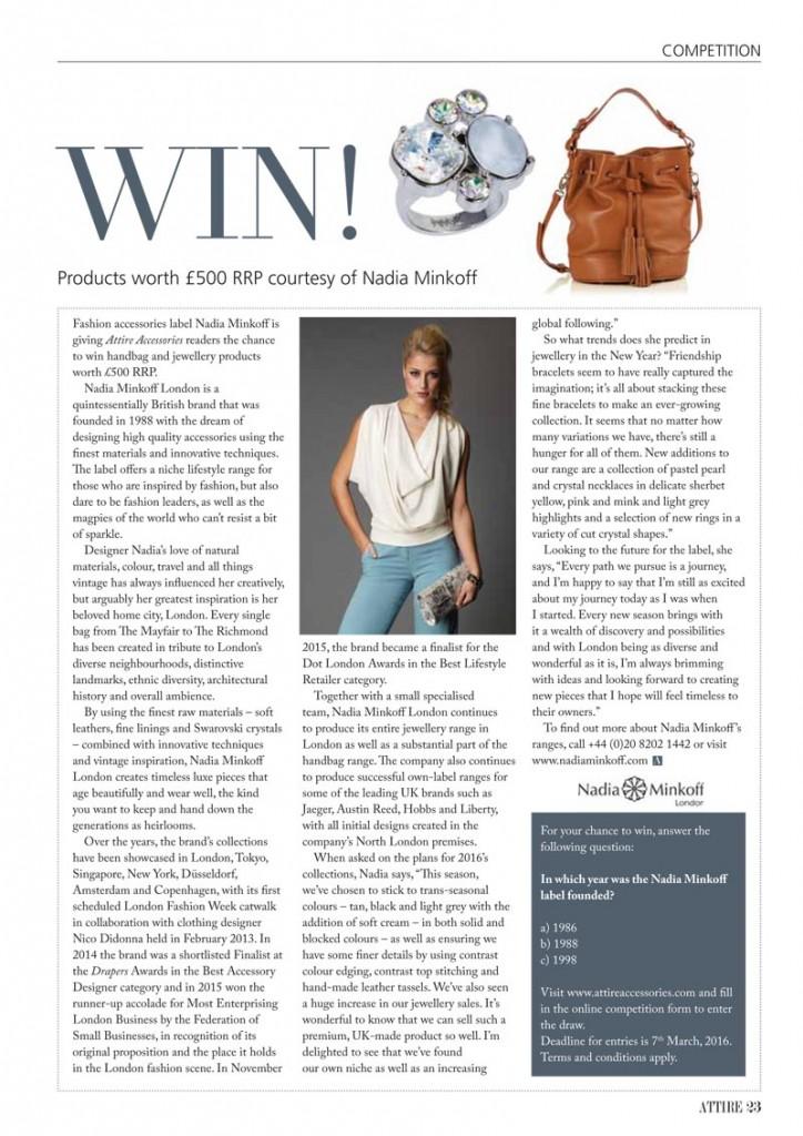 Attire Magazine - February 2016 Inside