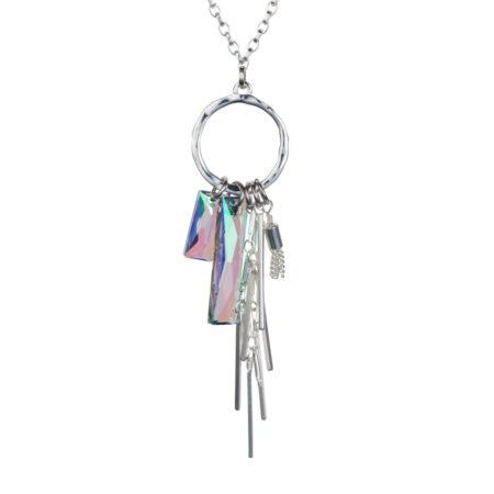 Crystal Baguette Cluster Necklace - Paradise Shine