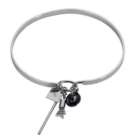 Cluster Bangle - Silver Chrome - 001