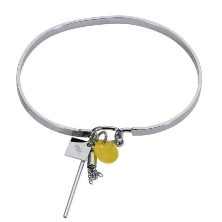 Cluster Bangle - Silver Yellow - 001