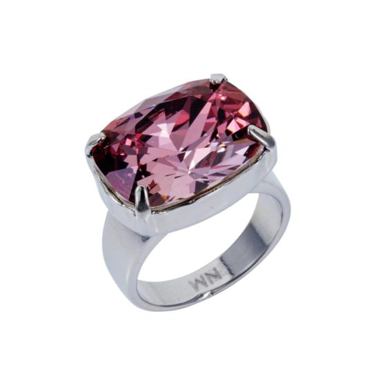 Crystal H Ring Antique Pink 01