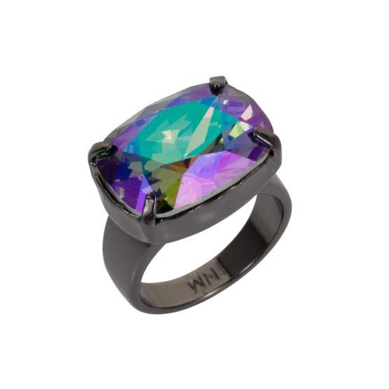 Crystal H Ring Petrol 01