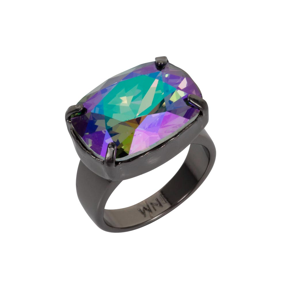 Crystal H Ring Petrol 01
