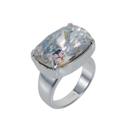 Crystal Patina H Ring Sterling Silver A