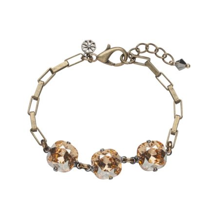 Cushion Stone Bracelet Golden Shadow