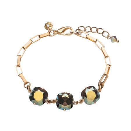 Cushion Stone Bracelet Iridescent Green