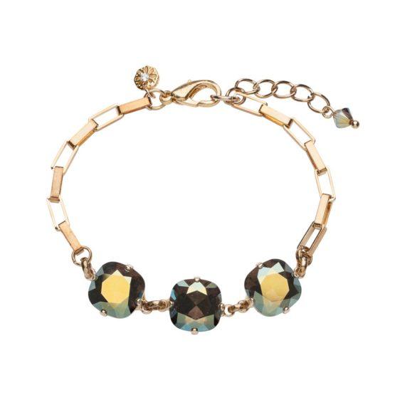 Cushion Stone Bracelet Iridescent Green