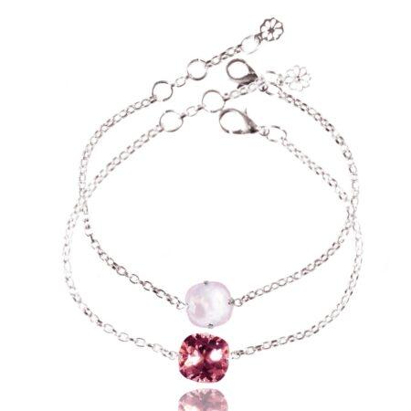 Stacking Duo Bracelet - Rose & Sherbet