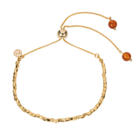 Friendship Bracelet - Orange Agate - 001