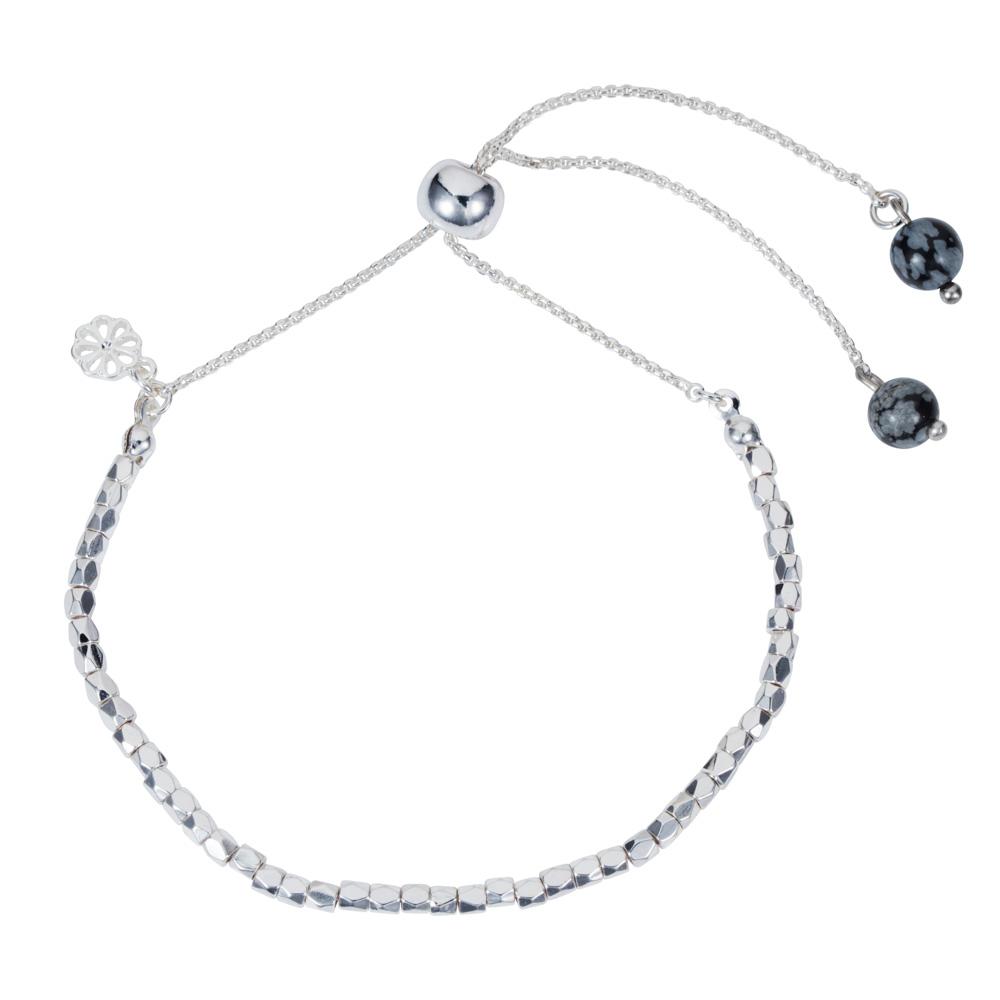 Friendship Bracelet - Snowflake Obsidian - 001