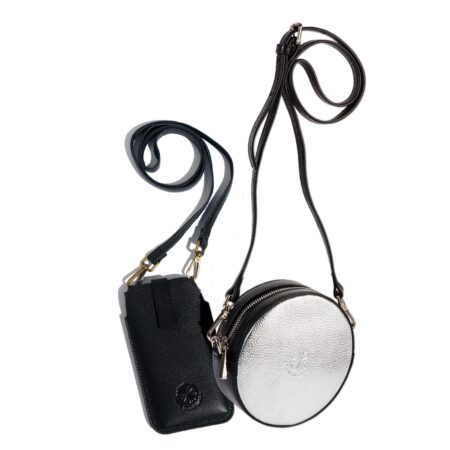 Full Circle Duo Bag - Silver & Black
