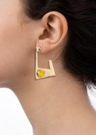 Geo Earrings - Gold Yellow - 002