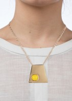 Geo Pendant - Gold Yellow - 002