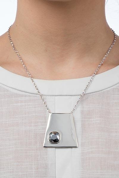 Geo Pendant - Silver Chrome Lookbook