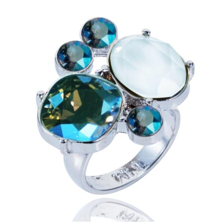 Glow Cocktail Ring - Blue Shimmer