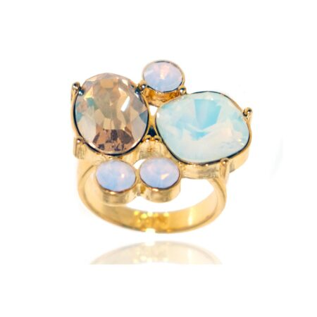 Glow Cocktail Ring - Gold