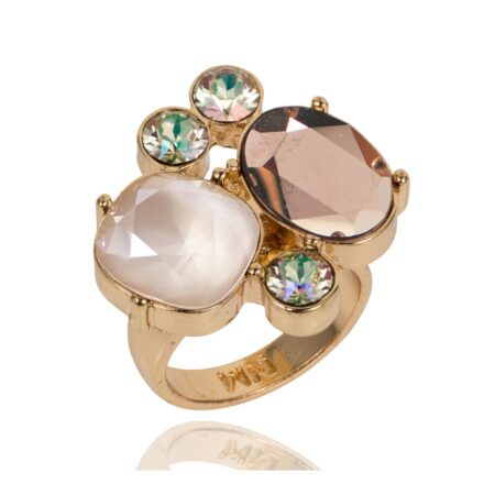 Glow Cocktail Ring - Gold Shimmer