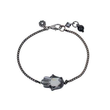 hamsa-bracelet-gunmetal