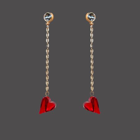 Straight to the heart earrings
