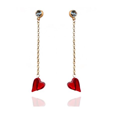 Straight to the heart earrings - Gold