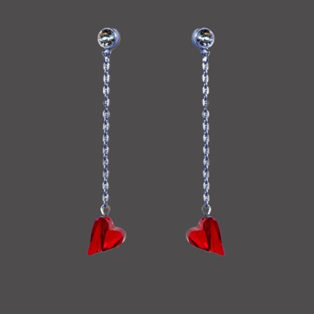 Straight to the heart earrings - Gunmetal