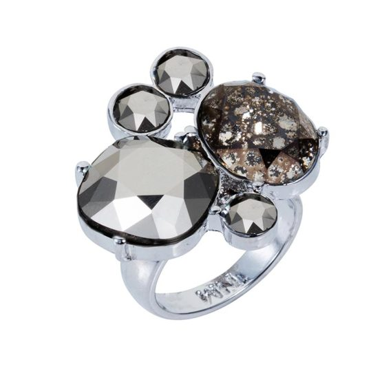 Kate Cocktail Ring - Chrome - 001