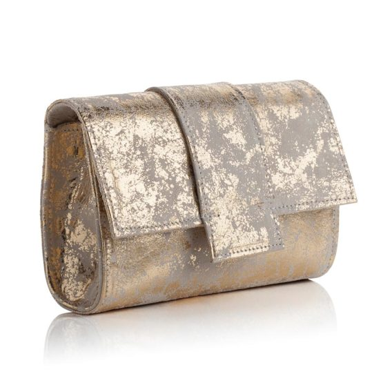 Kensington Midi Clutch Antique Gold
