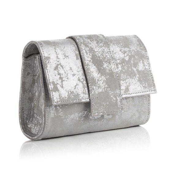 Kensington Midi Clutch Antique Silver