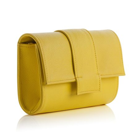 Kensington Midi Clutch Yellow