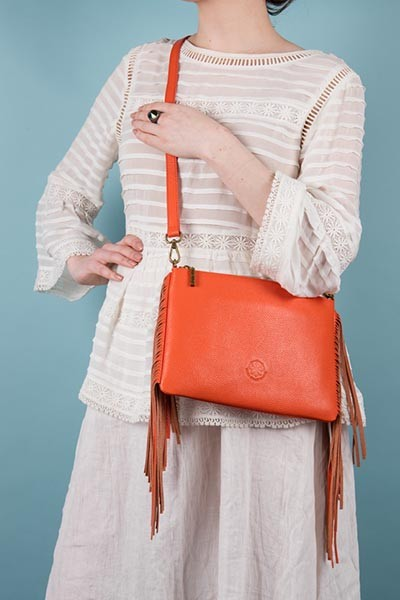 Lookbook - The Angel bag, orange