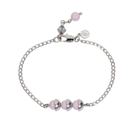 Mini Pearl Friendship Bracelet Soft Pink A