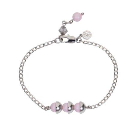 Mini Pearl Friendship Bracelet Soft Pink A