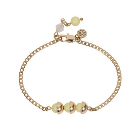 Mini Pearl Friendship Bracelet Yellow Sherbet A