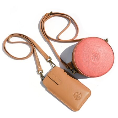 Full Circle Duo Bag Coral & Natural