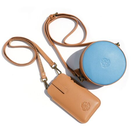 Full Circle Duo Bag Dove Blue & Natural