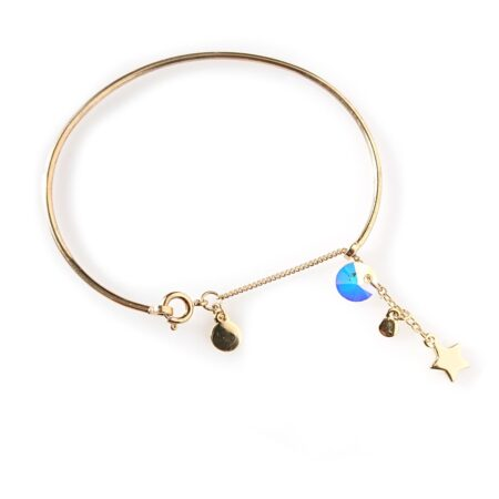 Skinny Star Bangle - Gold