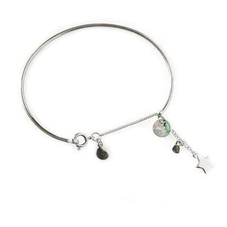 Skinny Star Bangle - Silver