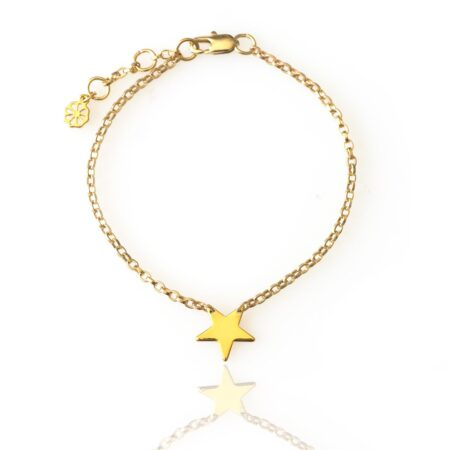 Star Link Chain Bracelet - Gold