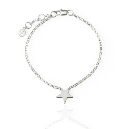 Star Link Chain Bracelet - Silver