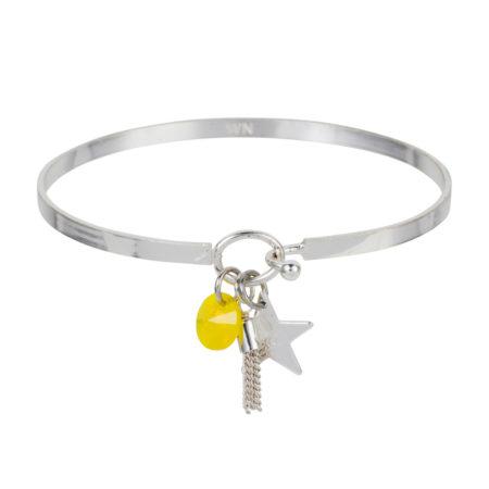 Star Cluster Bracelet - Silver Yellow