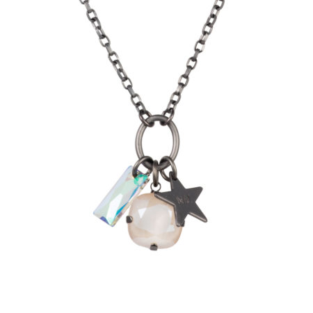 Star Cluster Necklace - Gunmetal