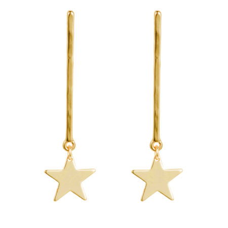 Star Drop Earrings - Gold