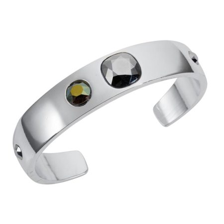 Narrow Cuff Silver Chrome - 001