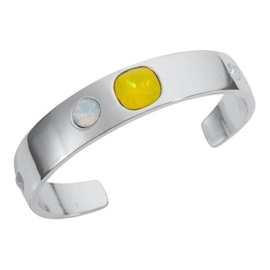 Narrow Cuff Silver Yellow - 001