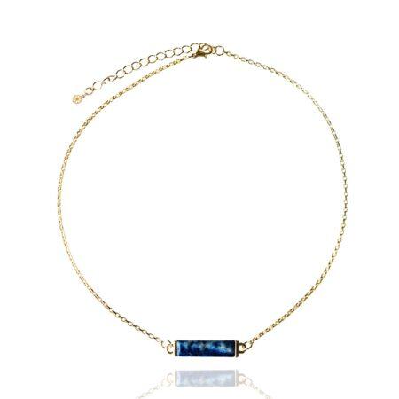 Nova Horizontal Necklace - Lapis Lazuli