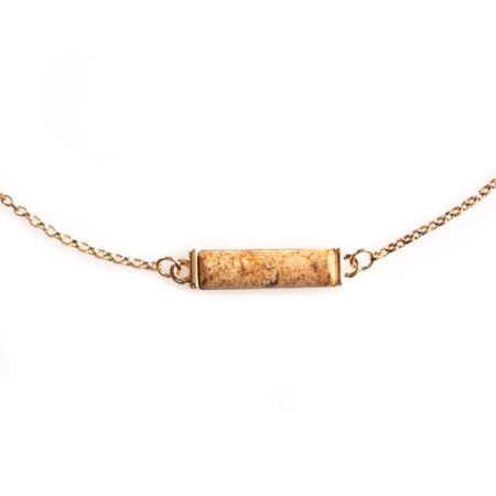 Nova Horizontal Necklace - Picture Jasper