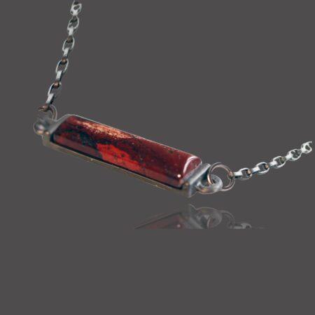 Nova Horizontal Necklace - Rainbow Jasper