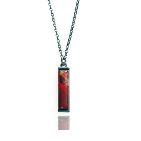 Nova Vertical Necklace - Rainbow Jasper